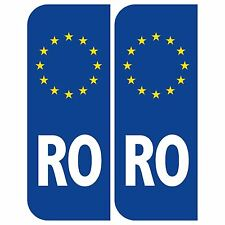 Pair of Road Legal Reflective Euro RO Romania Stickers vinyl for car van truck t