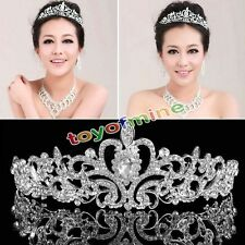 Tiara Sposa Bridesmaid Strass Corona Diadema Perla Cristallo Party Prom