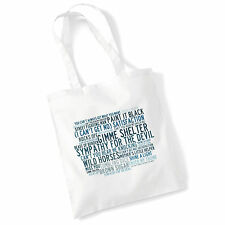 Art Studio Tote Bag THE ROLLING STONES Lyrics Print Album Poster Shopper Gift