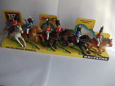 BRITAINS DEETAIL  MOUNTED BRITISH NAPOLEONIC FULL SET OF 6 ON DISPLAY CARD