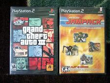 Grand Theft Auto III PlayStation 2 PS2 New Sealed Original Black Label + JAMPACK