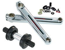 Redline Flight Crank Set Chrome 180mm WITH American Bottom Bracket Bearings! RL