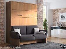 Schrankbett/Wandbett/Klappbett- Sofa WBS 1 Soft - 140 x 200 cm Holz.Casino Braun