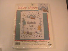 Leisure Arts Baby Counted Cross Stitch Kinka Birth Announcement NIP NOS NEW