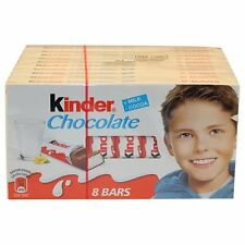 Kinder Chocolate case 10x100g  8 bars each US SELLER
