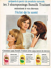 PUBLICITE ADVERTISING 034   1965   SUNSILK   shampoing