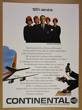 1968 Continental Airlines Stewardess & Director of Passenger Services vintage Ad
