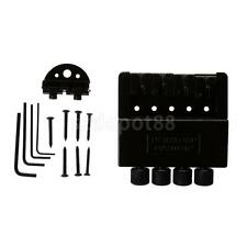 Black Roller Saddle 4String Bass Bridge for Headless Electric Bass Accessory