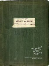 Bendix Radio Manual for MRT-6 and MRT-8 VHF Communications System