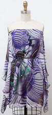 NWT GUESS BY MARCIANO 100% Silk Jasmine Butterfly Strapless Dress Size S NEW