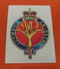 Welsh Guards vinyl sticker  85mm 7-10 year vinyl printed with eco solvent ink