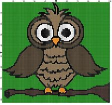 Owl Baby Size Afghan Crochet Graph Pattern By Alta's Crafts