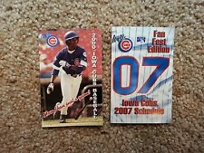 Two (2) Iowa Cubs Vintage schedules - 2000, 2007