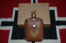 Ralph Lauren RRL Silver Metal With Leather Sleeve Flask Canteen Bottle