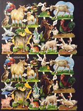 # GLANZBILDER # PZB 1292 Bauernhof - Tiere , seltener Doppelbogen / Großbogen
