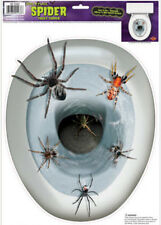 TOILET TOPPER Spiders design 1 cling bathroom lid seat decal sticker Halloween