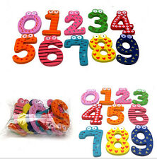 Cartoon Cute 0-9 Wooden Number DRCA Fridge Magnet Kid Child Math Xmas Gift Toy