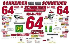 #64 Dick Trickle Schneider Trucking 1/32nd Scale Slot Car Waterslide Decals
