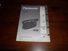 PANASONIC NV-R50B RARE ORIGINAL UK INSTRUCTION MANUAL BOOK INSTRUCTIONS R50 VHSC