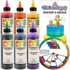 Chefmaster 9-Ounce 6 Color Neon Deluxe Airbrush Cake Colors Kit