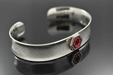 Medical Alert Bracelet Hand made on Sterling Silver .925 Inside Engrave Included