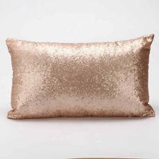 Rectangle Sequins Sofa Bed Home Decor Festival Santa Pillow Case Cushion Covers