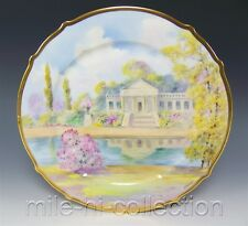 """LIMOGES HAND PAINTED """"ITALIAN GARDEN"""" PICKARD'S ARTIST SIGNED RHODES 11"""" CHARGER"""