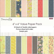 DOVECRAFT LEYTON DOUBLE SIDED 6 X 6 SAMPLE PACK 1 OF EACH - 10 SHEETS