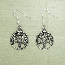 12 x Wholesale Lot Of Vintage Silver Celtic Tree Of Life Earrings Sterling Hooks