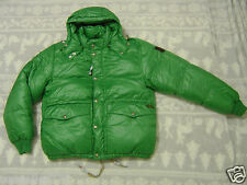 Polo RALPH LAUREN Hooded PUFFER JACKET ~ LG ~ GREEN Down Feather