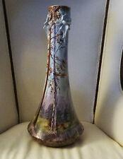 Faïence de Sainte Radegonde superbe imposant vase 1900's art nouveau