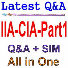 Certified Internal Auditor Part 1 For CIA Exam Q&A PDF+SIM