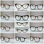 Retro Geek Vintage Wayfarer Nerd Frame Fashion Black Round clear lense glasses