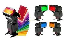 12pcs Flash Diffuser Lighting Gel Pop up Color Card Correct Filter For Speedlite