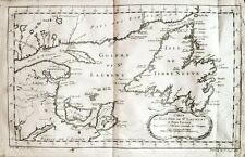c1760 Kanada Canada Neufundland Sankt-Lorenz-Golf Kupferstich-Landkarte Bellin