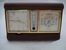 ANGELUS CLOCK THERMOMETHER WEATHER STATION UNIQUE W/PAPERS