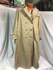 VINTAGE Burberrys' Burberry* Double Breasted Beige Cotton Trench Coat England 14