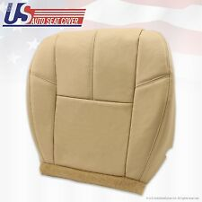 2007 to 2012 Chevy Silverado Driver Bottom Leather Seat Cover Tan