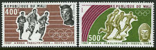 Mali C534-C535, MNH. Pre-Olympic, Seoul. Runners, Soccer players, 1987