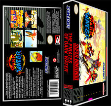 The Pirates of Dark Water - SNES Reproduction Art Case/Box No Game.