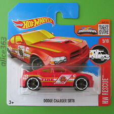 Hot Wheels 2016-Dodge Charger srt8-t-hunt-HW Rescue - 215-nuevo en caja original