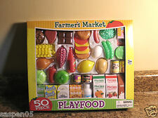 Pretend Food Play Set 50 Pieces Farmers Market  NEW