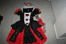 DAZZLING DARK QUEEN ALICE IN WONDERLAND SEXY SHORT DRESS COSTUME SIZE XL EXTRAS