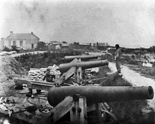 New 8x10 Civil War Photo: Confederate Battery and Nelson Church in Yorktown