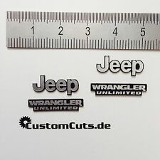 Jeep Wrangler Embleme für Axial RC4WD Tamiya  1:10 RC Scaler Decal Sticker