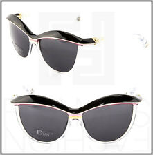 CHRISTIAN DIOR Demoiselle 2 Women Cat Eye Sunglasses Black Pink Crystal Grey