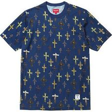 SUPREME Crosses Tee Shirt Royal M Box Logo garcons kate moss S/S 13 camp cap