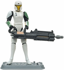 "Star Wars Clone Wars Clone Trooper Hevy 3.75"" Action figure packaging damaged"