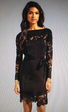 NWT Diane von Furstenberg ERNESTINA lace-trim dress 0 6 8 10 12 or 14 ($465)