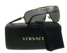 HOT New VERSACE Aviator Pilot Shield Gold Metal Sunglasses VE 2140 1002/87 214O